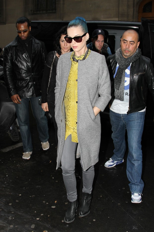 Katy Perry faz compras em Paris, na França (Foto: Getty Images/ Agência)