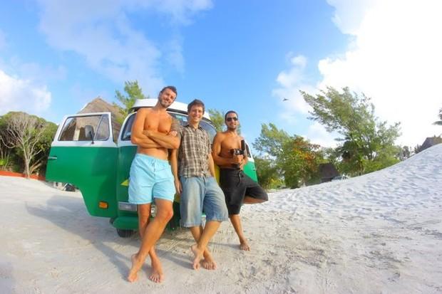 Andrew Havelberg, Felipe Costa e Emilio Zagaia (Foto: Vince Chachapoyas/Divulgação)