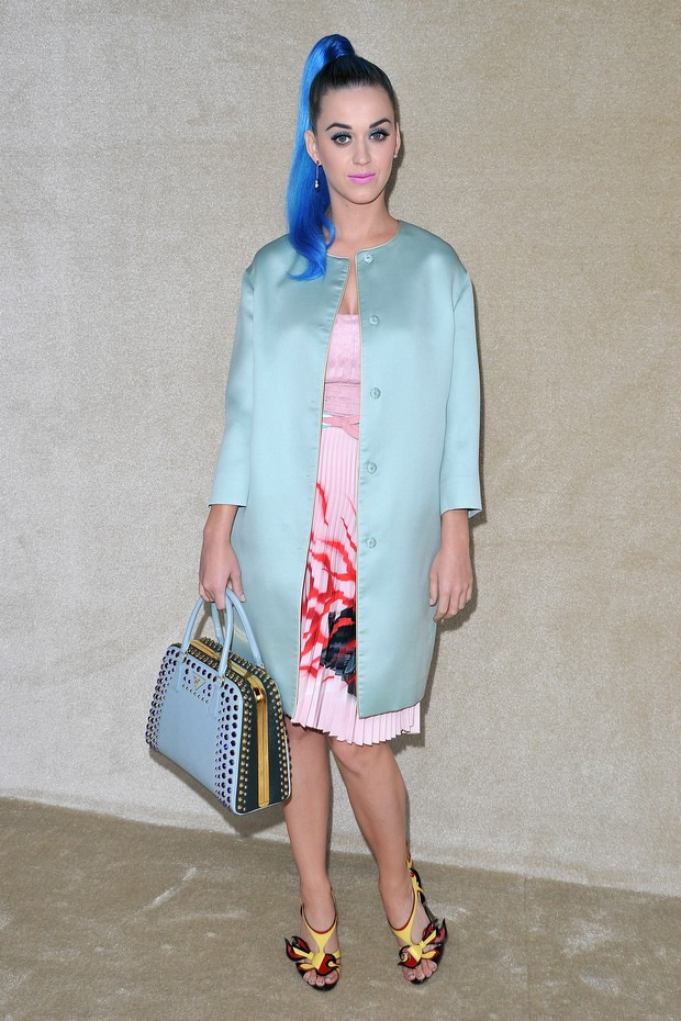 Katy Perry na Paris Fashion Week (Foto: Getty Images/ Agência)