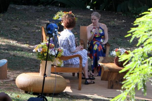 Angélica grava 'Estrelas' com Júlia Lemmertz e Ana Beatriz Nogueira (Foto: Gil Rodrigues / Photo Rio News)
