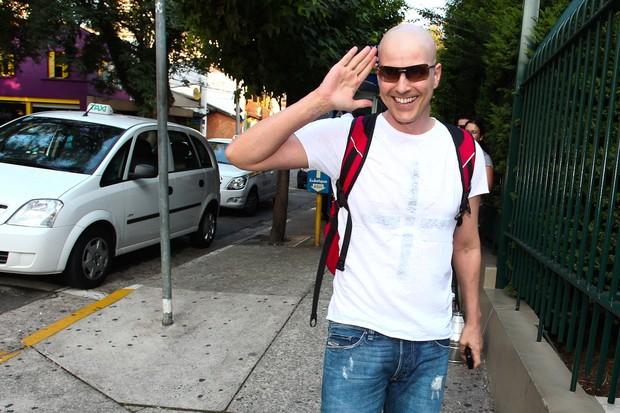 Reynaldo Gianecchini chega para ensaio de peça (Foto: Manuela Scarpa / Photo Rio News)