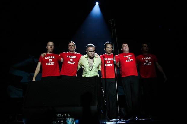 Morrissey se apresenta em São Paulo e protesta contra Assad (Foto: Photo Rio News/ Manuela Scarpa)
