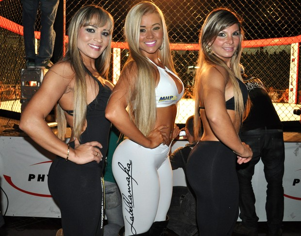 Aryane Steinkopf e as Ring Girls (Foto: WJR Entretenimento / Well Jr / Divulgação)