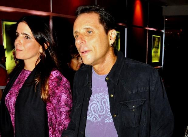 Malu Mader e Tony Bellotto na pré-estreia do filme 'Heleno', no Rio (Foto: Roberto Teixeira / EGO)