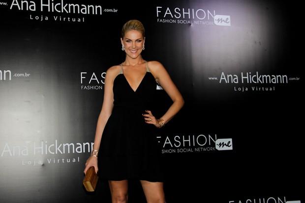 Ana Hickmann em evento de moda em São Paulo (Foto: Milene Cardoso/ Ag. News)