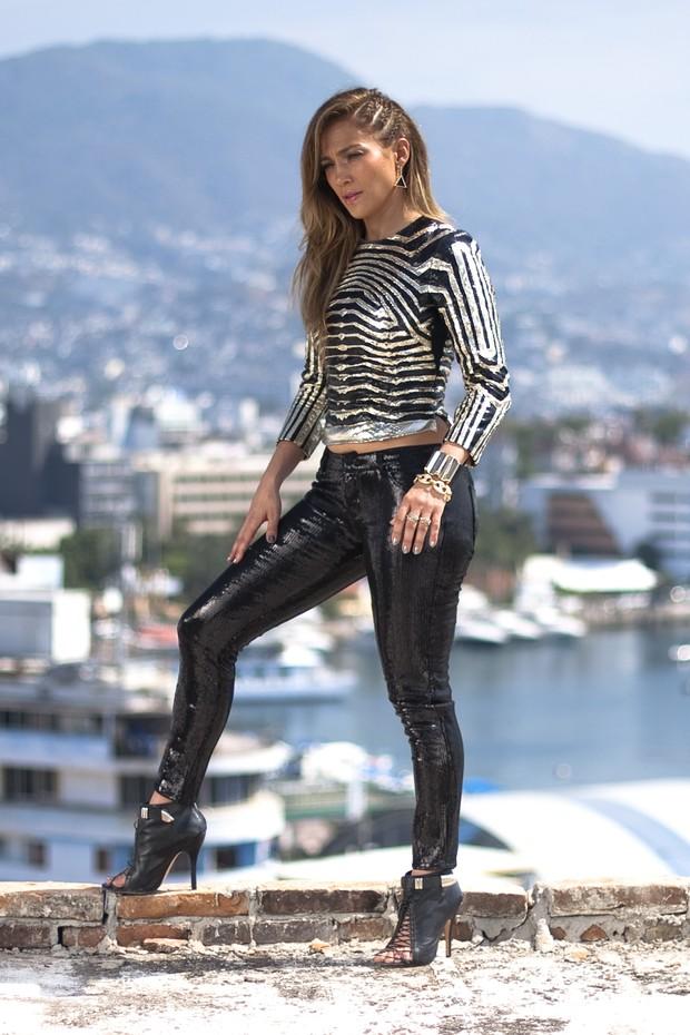 Jennifer Lopez grava clipe no México (Foto: Getty Images)