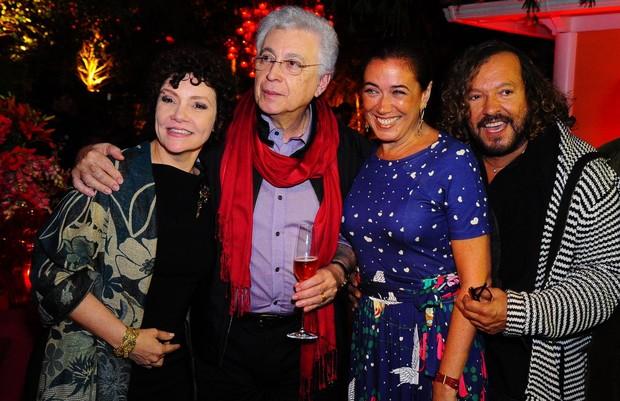 Thaís de Campos, Aguinaldo Silva, Lilia Cabral e Wolf Maya (Foto: Roberto Teixeira/EGO)