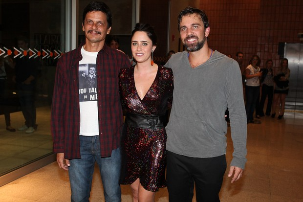 Duda Ribeiro, Fernanda Vasconcellos e Marcelo Faria estreiam em São Paulo (Foto: Manuela Scarpa/Photo Rio News)