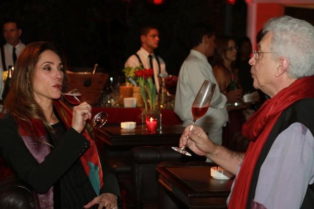 Aguinaldo Silva e Christiane Torloni na festa de encerramento de 'Fina Estampa' (Foto: Marcello Sá Barreto/Photo Rio News)