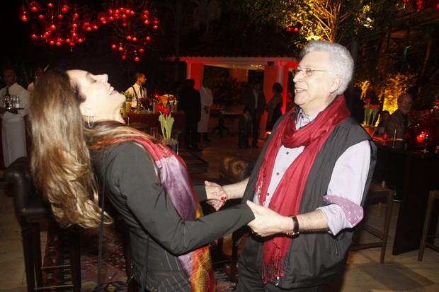 Aguinaldo Silva e Christiane Torloni na festa de encerramento de 'Fina Estampa' (Foto: Philippe Lima/Ag News)