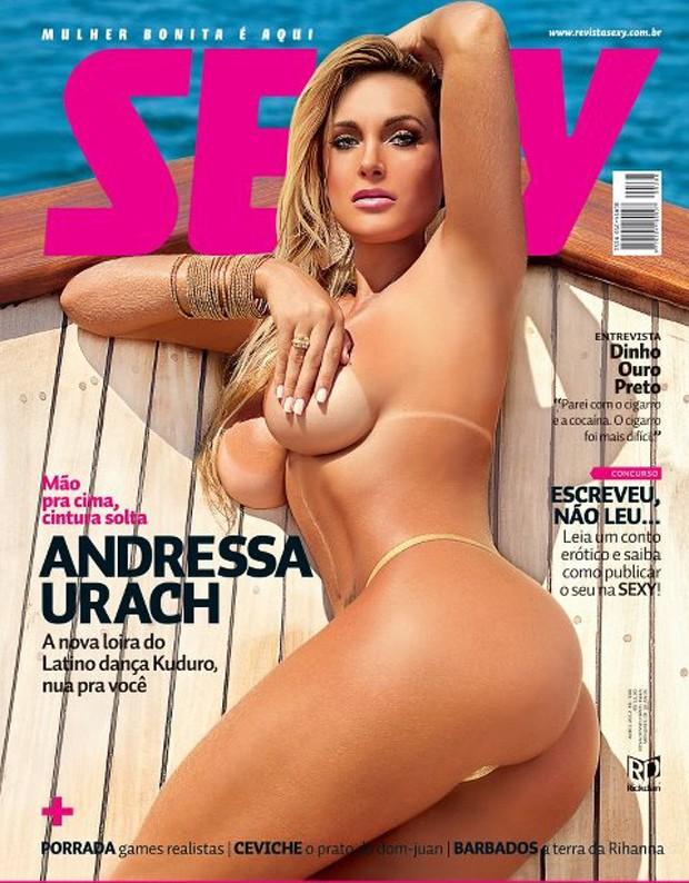 Andressa Urach na capa da revista 'SEXY' (Foto: Sexy / Divulgação)