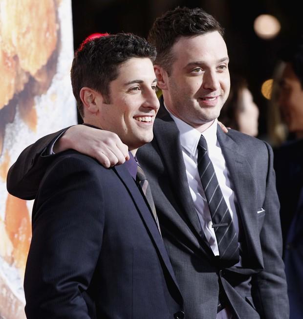 Jason Biggs e Eddie Kaye Thomas na première de 'American Pie – O reencontro' em Los Angeles, nos Estados Unidos (Foto: Reuters/ Agência)