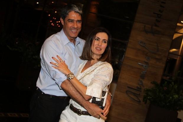 William Bonner e Fátima Bernardes no aniversário de Tande no Rio (Foto: Daniel Delmiro/ Ag. News)