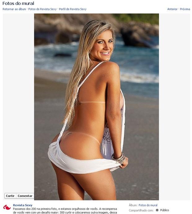 A Latinete Andressa Urach na Revista Sexy (Foto: Facebook / Reprodução)