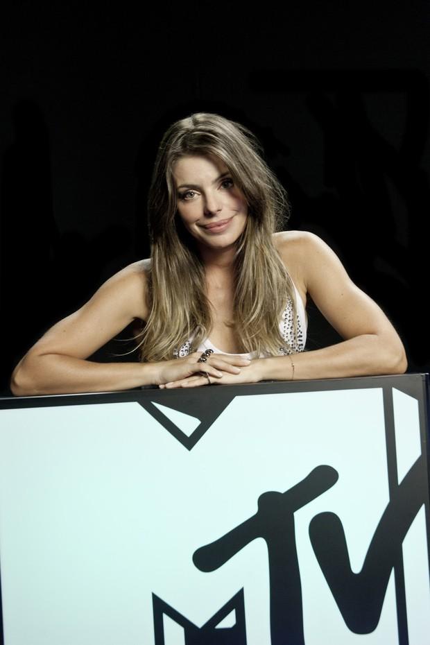 Daniella Cicarelli na MTV (Foto: Kelly Fuzaro/MTV)