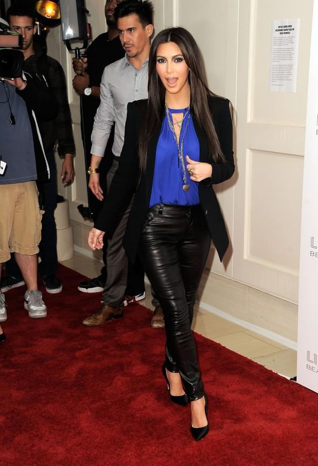 Kim Kardashian em lançamento de perfume em Los Angeles, nos Estados Unidos (Foto: Getty Images/ Agência)