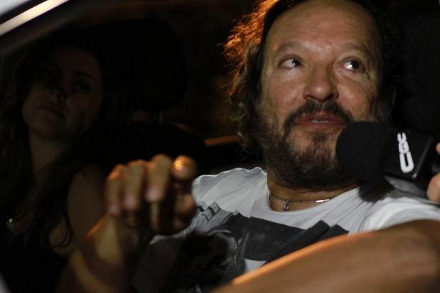 Wolf Maya se reúne com o elenco de 'Fina Estampa' para assistir último capítulo (Foto: Marcello Sá Barreto / Photo Rio News)