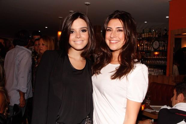 Giovanna Lancellotti e Fernanda Paes Leme em inauguração de restaurante em São Paulo (Foto: Amauri Nehn/ Ag.News)