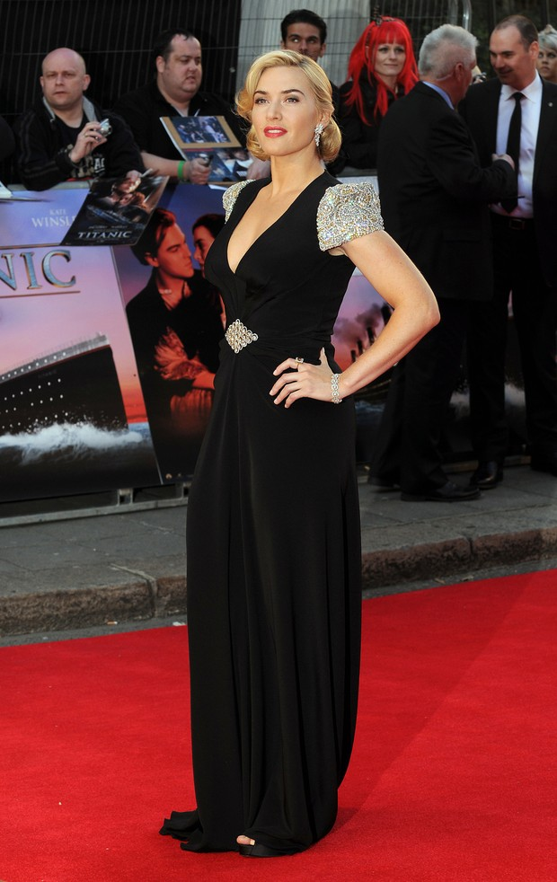 Kate Winslet no lançamento do filme 'Titanic 3D' em Londres (Foto: Getty Images)