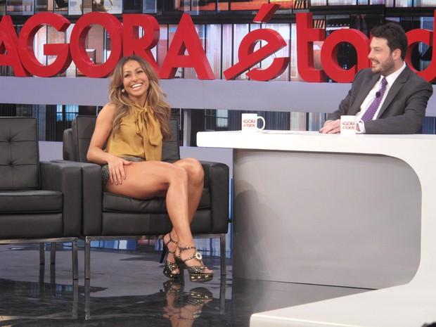 Sabrina Sato em programa de entrevistas (Foto: Felipe Pessota / BAND)