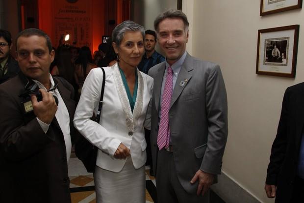 Cássia Kiss e Eike Batista em prêmio no Rio (Foto: Felipe Assumpção/ Ag.News)