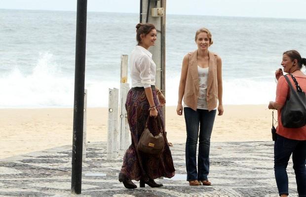 Sophie Charlotte e Angélica gravam 'Estrelas' (Foto: André Freitas / AgNews)