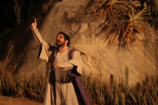 Caco Ciocler em 'A Paixão de Cristo' (Foto: Clélio Tomaz/Ag. News)