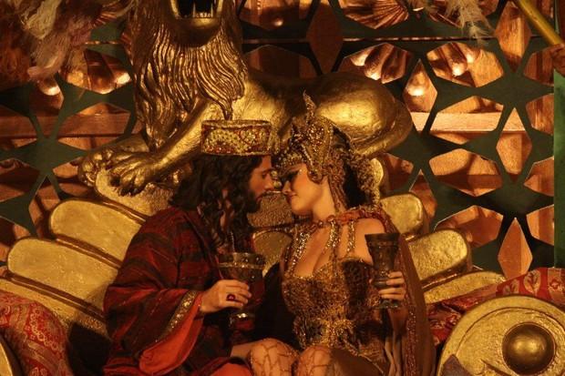 Ellen Roche e Mouhamed Harfouch em 'A Paixão de Cristo' (Foto: Clélio Tomaz/Ag. News)