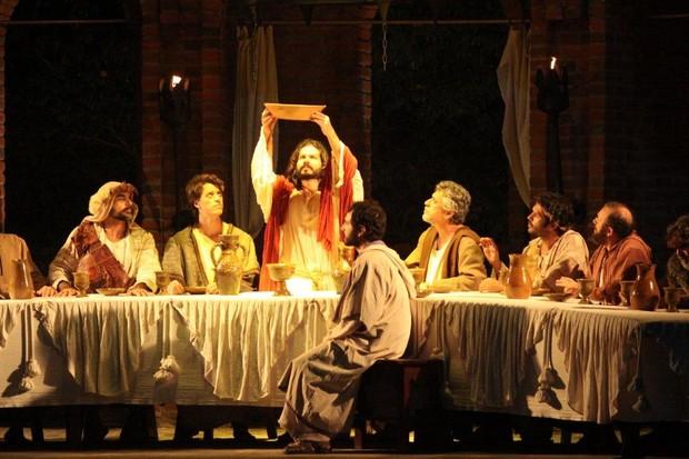 Cena de 'A Paixão de Cristo' (Foto: Clélio Tomaz/Ag. News)
