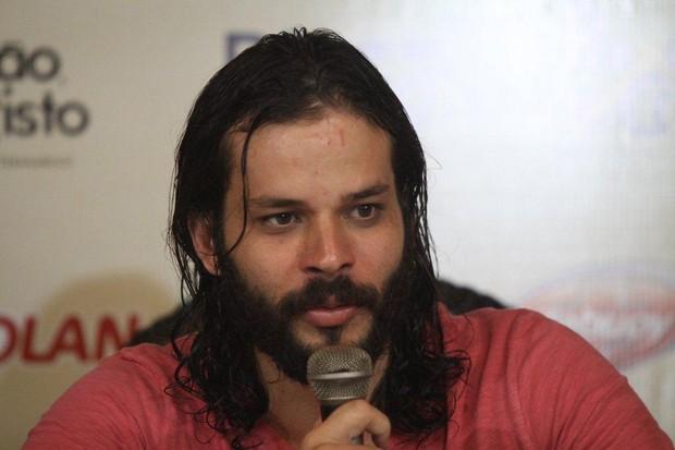 José Barbosa na entrevista coletiva de 'A Paixão de Cristo' (Foto: Clélio Tomaz/Ag. News)