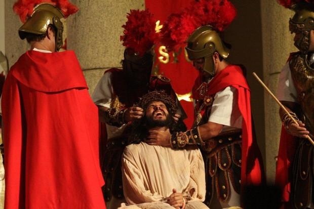José Barbosa em cena de 'A Paixão de Cristo' (Foto: Clélio Tomaz/Ag. News)