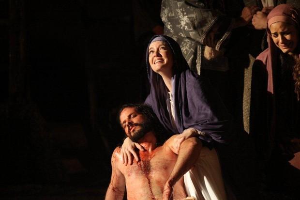 Larissa Maciel em 'A Paixão de Cristo' (Foto: Clélio Tomaz/Ag. News)