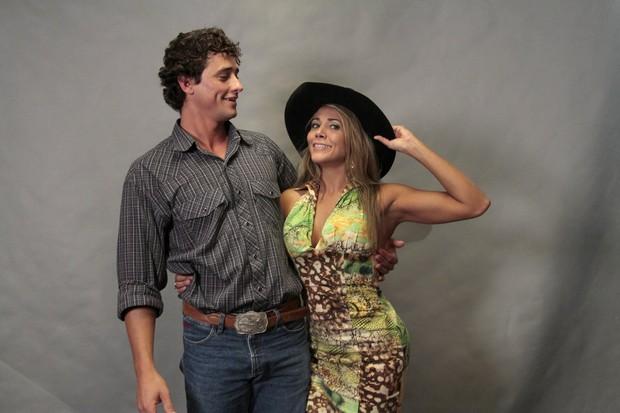 Fael e Fabiana, campeão e vice do 'BBB 12' (Foto: Isac Luz/ EGO)