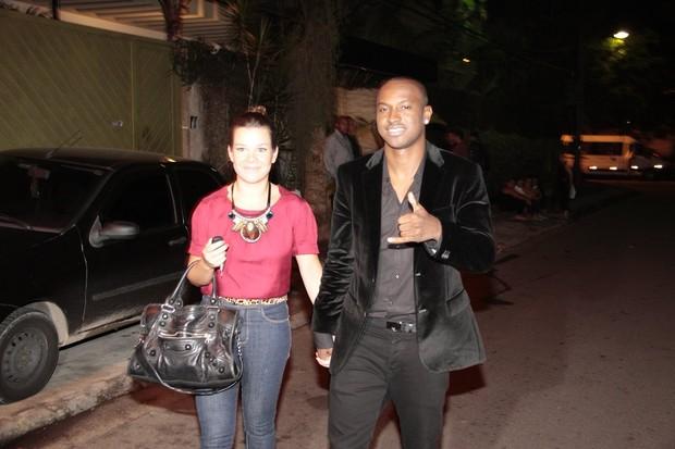 Fernanda Souza e Thiaguinho em festa de encerramento do 'BBB 12' na Barra da Tijuca, Zona Oeste do Rio (Foto: Isac Luz/ EGO)