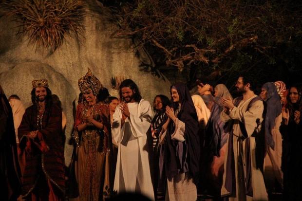Espetáculo 'A Paixão de Cristo' (Foto: Clélio Tomaz/Ag. News)