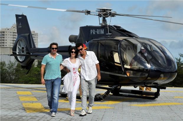 Bruno Mazzeo, Malga Di Paula e Nizo Neto (Foto: Rede Globo)