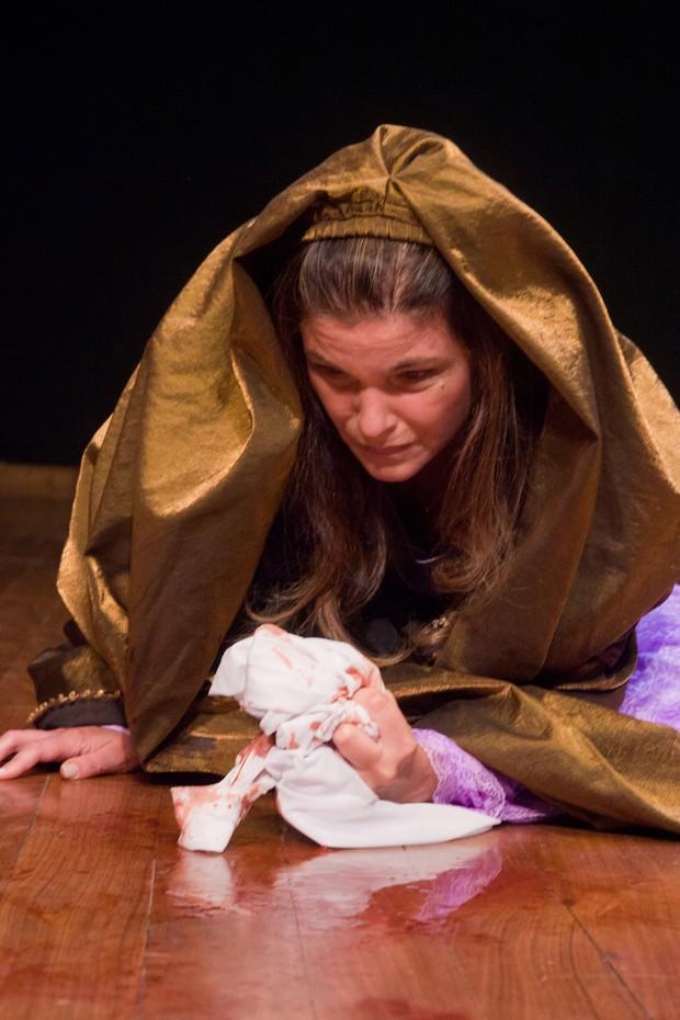 Cristiana Oliveira como Maria, Mãe de Jesus (Foto:  Foto: Divulgação/Bruno Karim)