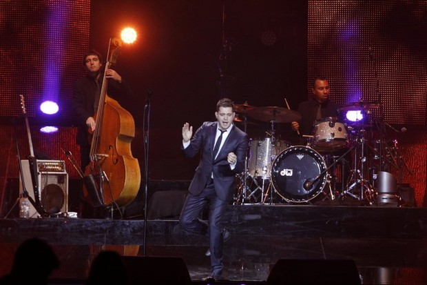 Michael Bublé faz show no Rio (Foto: Anderson Borde/Ag News)