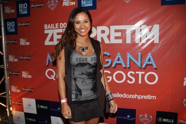 Thaissa Carvalho em festa no Rio (Foto: Daniel Delmiro/Ag News)
