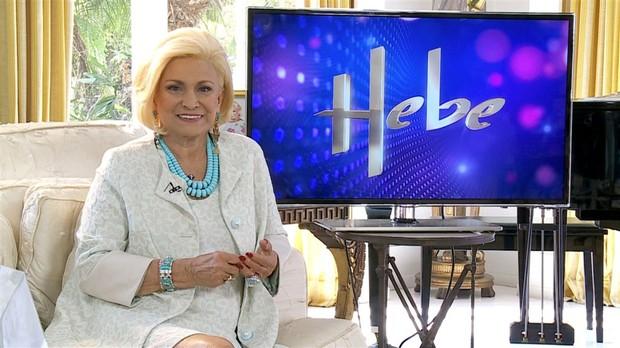 Hebe Camargo volta a gravar seu programa (Foto: Reprodução/Rede TV!)