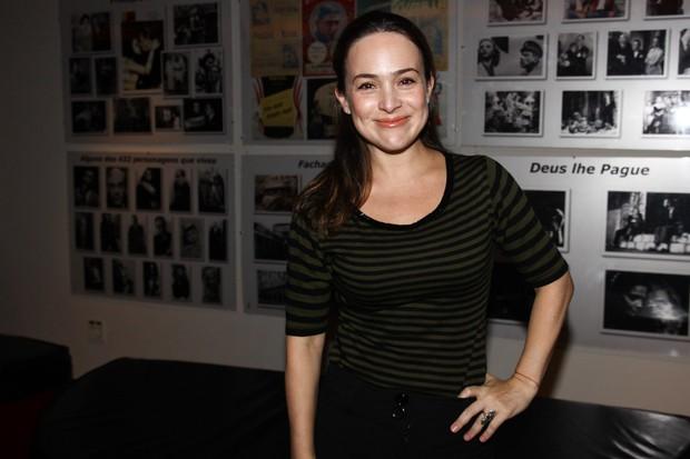 Gabriela Duarte assite a peça em São Paulo (Foto: Manuela Scarpa/ Photo Rio News)