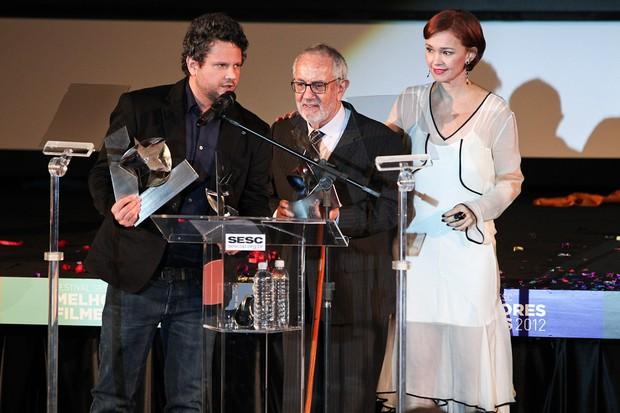 Selton Mello, Paulo José e Júlia Lemmertz no Festival SESC Melhores Filmes em São Paulo (Foto: Manuela Scarpa/ Photo Rio News)