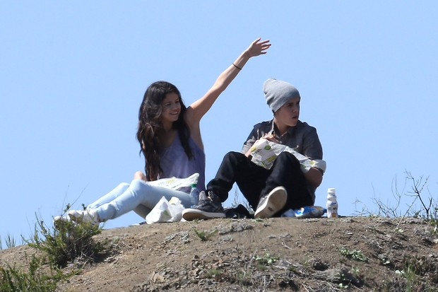 Junstin Bieber e Selena Gomez (Foto: Foto: Grosby Group)