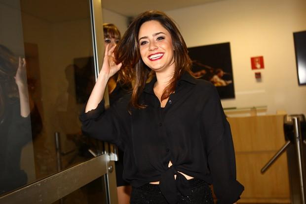 Fernanda Vasconcellos em gravação do DVD de Thiaguinho em São Paulo (Foto: Iwi Onodera/ EGO)