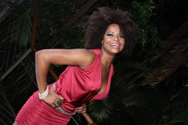 Adriana Bombom em show no Rio (Foto: Thyago Andrade/ Photo Rio News)