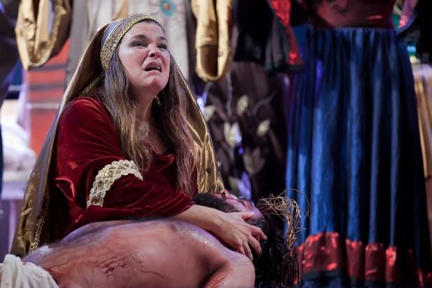 Cristiana Oliveira no espetáculo Paixão de Cristo em Goiânia (Foto: Bruno Karim/ Divulgação)
