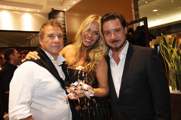 Valdemar Iódice, Galisteu e Alexandre (Foto: Milene Cardoso/AgNews)
