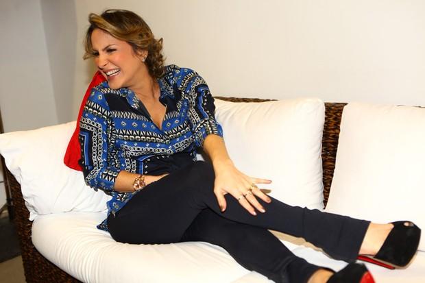 Claudia Leitte em gravação de DVD de Alexandre Pires em São Paulo (Foto: Iwi Onodera/ EGO)