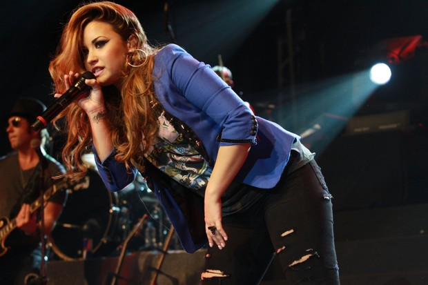 Demi Lovato faz show no City Bank Hall no RJ (Foto: Marcello Sá Barretto/Photo Rio News)