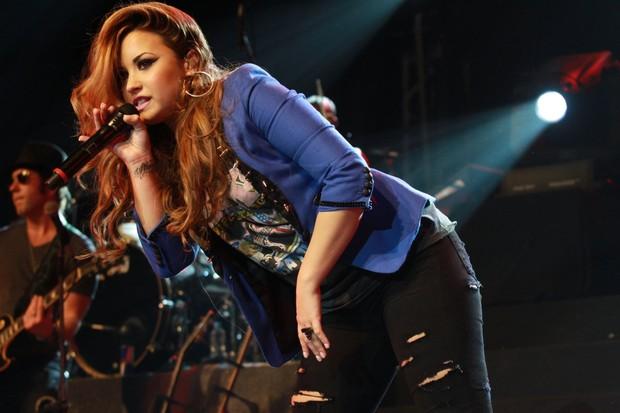 Demi Lovato faz show no City Bank Hall no RJ (Foto: Marcello Sá Barretto/Photo Rio News)